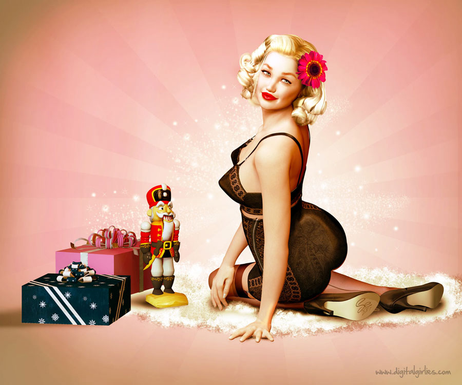 Christmas 2011 Pinup | Digital Girlies