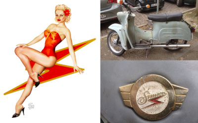 Kleine Schwalbe Scooter Pin-Up Commission