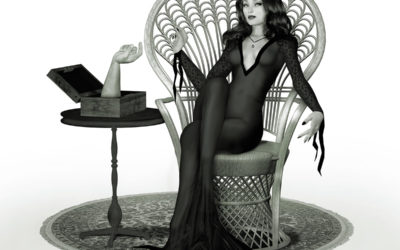 Morticia Adams Pin-Up