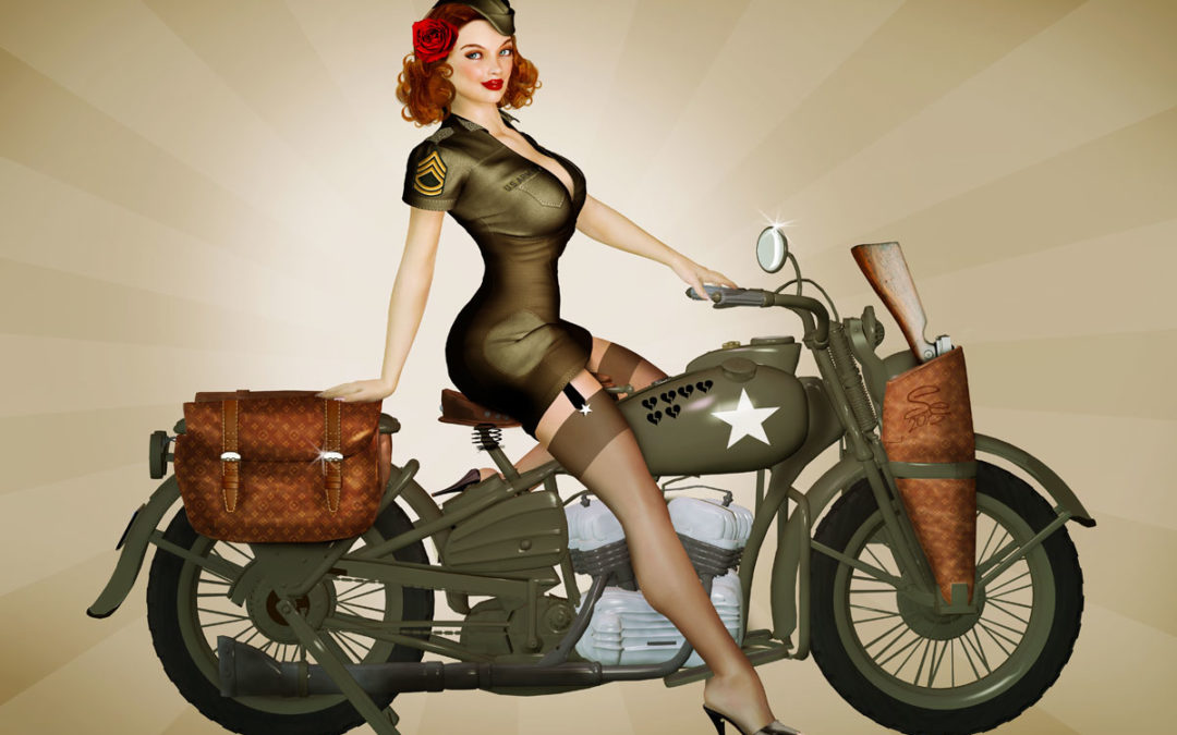 Tutorial – How to Create a 3D Vintage Style Military Pin-Up